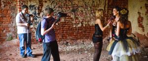 Съемка сюжетов Backstage